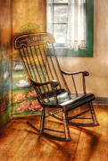 Grandma Framed Prints - Furniture - Chair - The rocking chair Framed Print by Mike Savad