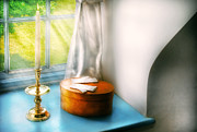 Candle Stick Posters - Furniture - Lamp - In the window  Poster by Mike Savad