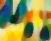 Colorful Abstract Art Art - Fury Rain 2 by Amy Vangsgard
