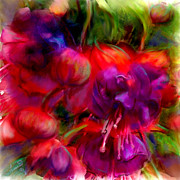 Fuschia Painting Posters - Fuschia Excitement Poster by Francine Dufour Jones
