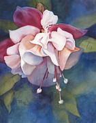Fushia Painting Framed Prints - Fushia Fantasy Framed Print by Michele Thorp