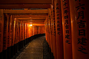 Wet Window Framed Prints - Fushimi Inari Framed Print by Ruben Vicente