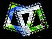 Fusion In Geometric Art Print by Mario  Perez