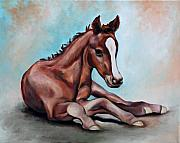 Filly Paintings - Future Champion by Eve  Wheeler