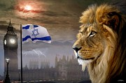 Lion Digital Art Originals - Future King of Israel by Bill Stephens