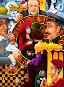 Chess Painting Posters - Future Talk on Four Kings Poster by Igor Postash