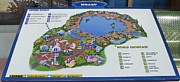 World Showcase Prints - Future World Map Walt Disney World Digital Art Print by Thomas Woolworth