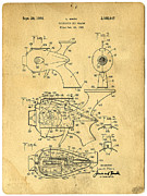 Futuristic Posters - Futuristic Toy Gun Weapon Patent Poster by Edward Fielding