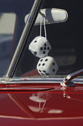 Classic Cars Photos Framed Prints - Fuzzy Dice 2 Framed Print by Jill Reger