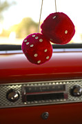 Corvette Prints - Fuzzy Dice Print by Jill Reger