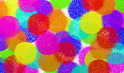 Circle Abstracts Digital Art - Fuzzy Polka Dots by Andee Photography