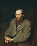 Author Metal Prints - Fyodor Dostoyevsky Russian Author Metal Print by Photo Researchers