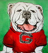 Mascot Drawings Prints - G Dawg Print by Pete Maier