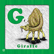 Abc Drawings - G for Giraffe by Jason Meents
