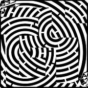 Pathways Drawings - G-Mazed Maze by Yonatan Frimer Maze Artist