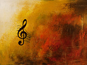 Poster Prints Prints - G Symphony Print by Carmen Guedez