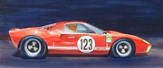 Watercolor Sports Art Paintings - G T 40 by Robert Hooper