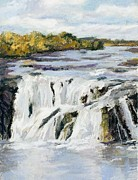 Waterfall Pastels Originals - Ga-ha-hose by Jennifer Richard-Morrow
