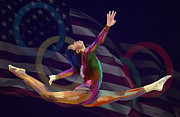 Gymnastics Mixed Media - Gabby by GCannon