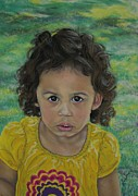 Black Curly Hair Pastels - Gabi by Linda Eversole