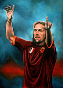 League Painting Framed Prints - Gabriel Batistuta Framed Print by Paul  Meijering