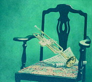 Interior Still Life Paintings - Gabriels Trumpet  by Barry DeBaun