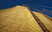 Full Sail Framed Prints - Gaff Rigged Mainsail Framed Print by Marty Saccone