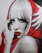 Pop Surrealism Paintings - GaGa by Christian Chapman Art