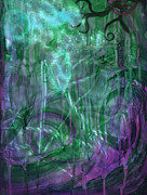 Cauldron Paintings - Gaia abstract 3 of 3 by Luis  Navarro