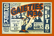 Griffith Prints - Gaieties of 1936 Print by Unknown