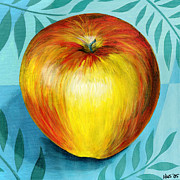 Gala Painting Framed Prints - Gala Apple Framed Print by Holly  Whitstock Seeger