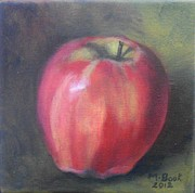 Gala Painting Framed Prints - Gala Apple Framed Print by Marlene Book