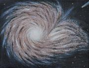Outer Space Abstract Paintings - Galactic Amazing Dance by Georgeta  Blanaru