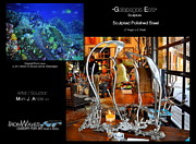 Glass Wall Sculptures - Galapagos Eels by Mark Ansier