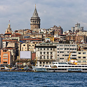 Byzantine Art - Galata tower 03 by Antony McAulay