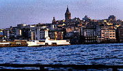 Genoa Digital Art Prints - Galata Tower..Istanbul Print by Paul Sutcliffe
