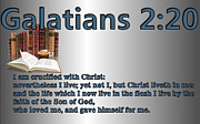 Bible Prints - Galatians 2 20 Print by Ricky Jarnagin