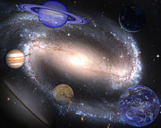 Night Sky Art - Galaxies and Planets by J D Owen