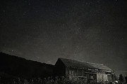 Star Barn Posters - Galaxy Over The Barn Poster by Emily Stauring