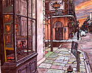 French Door Painting Prints - Galerie d Art Francais Print by John Boles