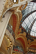 Architecture Greeting Cards Prints - Galeries Lafayette Print by Kathy Yates