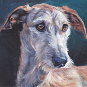 Dog Art Paintings - Galgo Espanol by Lee Ann Shepard
