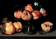 Peaches Photo Prints - Galizia Fede, Crystal Fruit Stand Print by Everett