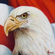 4th July Digital Art Framed Prints - Gallantly Streaming 3 Framed Print by Jean R Brown