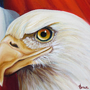 4th July Digital Art Framed Prints - Gallantly Streaming 4 Framed Print by Jean R Brown
