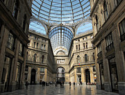 Neapolitan Framed Prints - Galleria Umberto I Framed Print by Kiril Stanchev