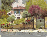Jewelry Painting Prints - Galline Print by Guido Borelli
