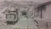 Train Tracks Drawings - Gallitzin Tunnel by Thomasina Durkay