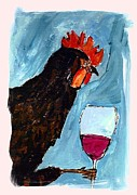 Brunello Prints - Gallo con Vino Print by Pj T