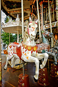 Carousel Framed Prints - Galloper Framed Print by Olivier Le Queinec